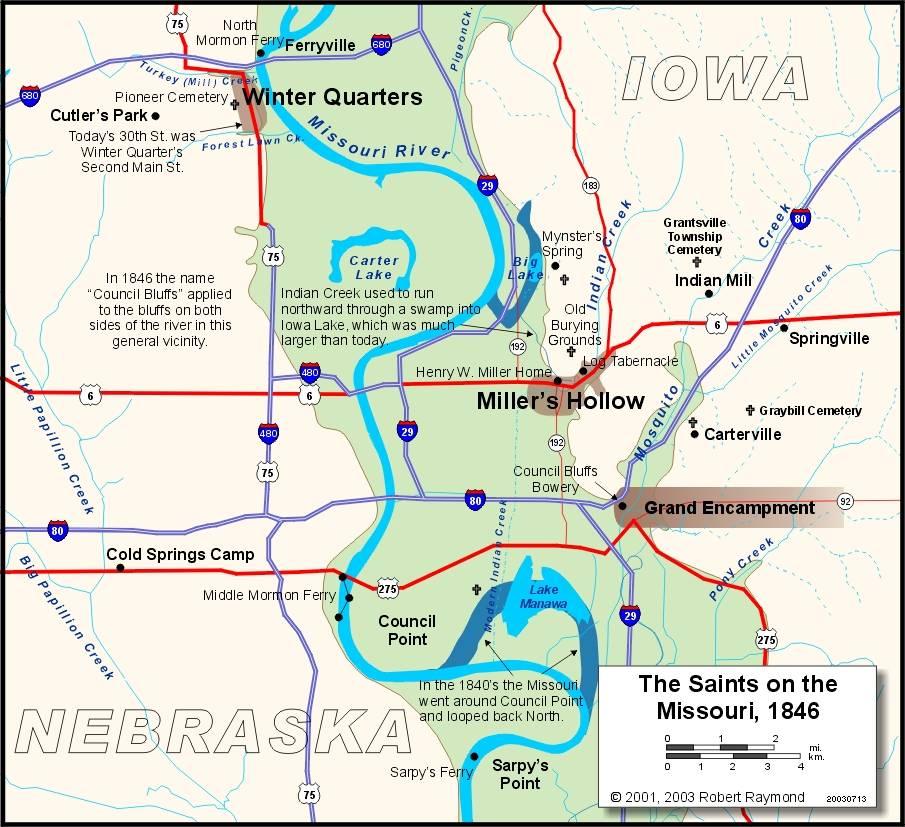 map of council bluffs iowa Councill Bluffs 1846 map of council bluffs iowa
