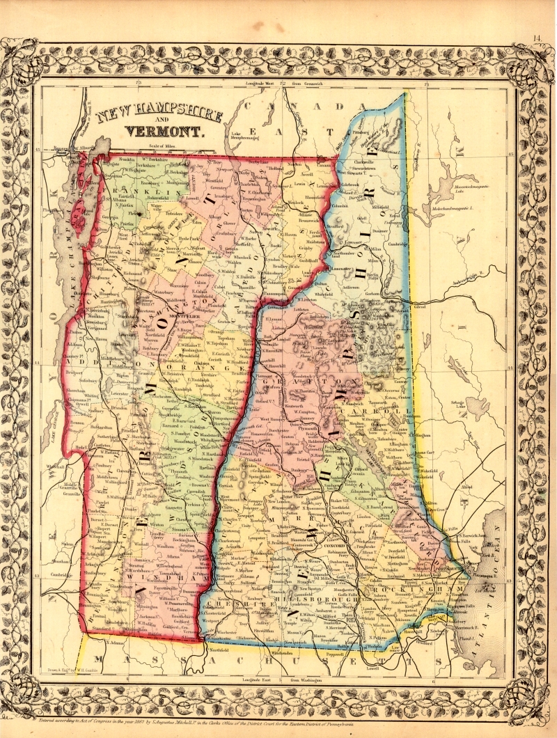 Early Vermont Maps