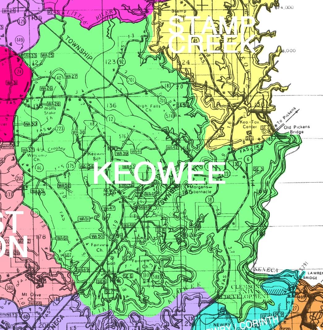 Anderson Oconee Pickens County Sc Maps Places