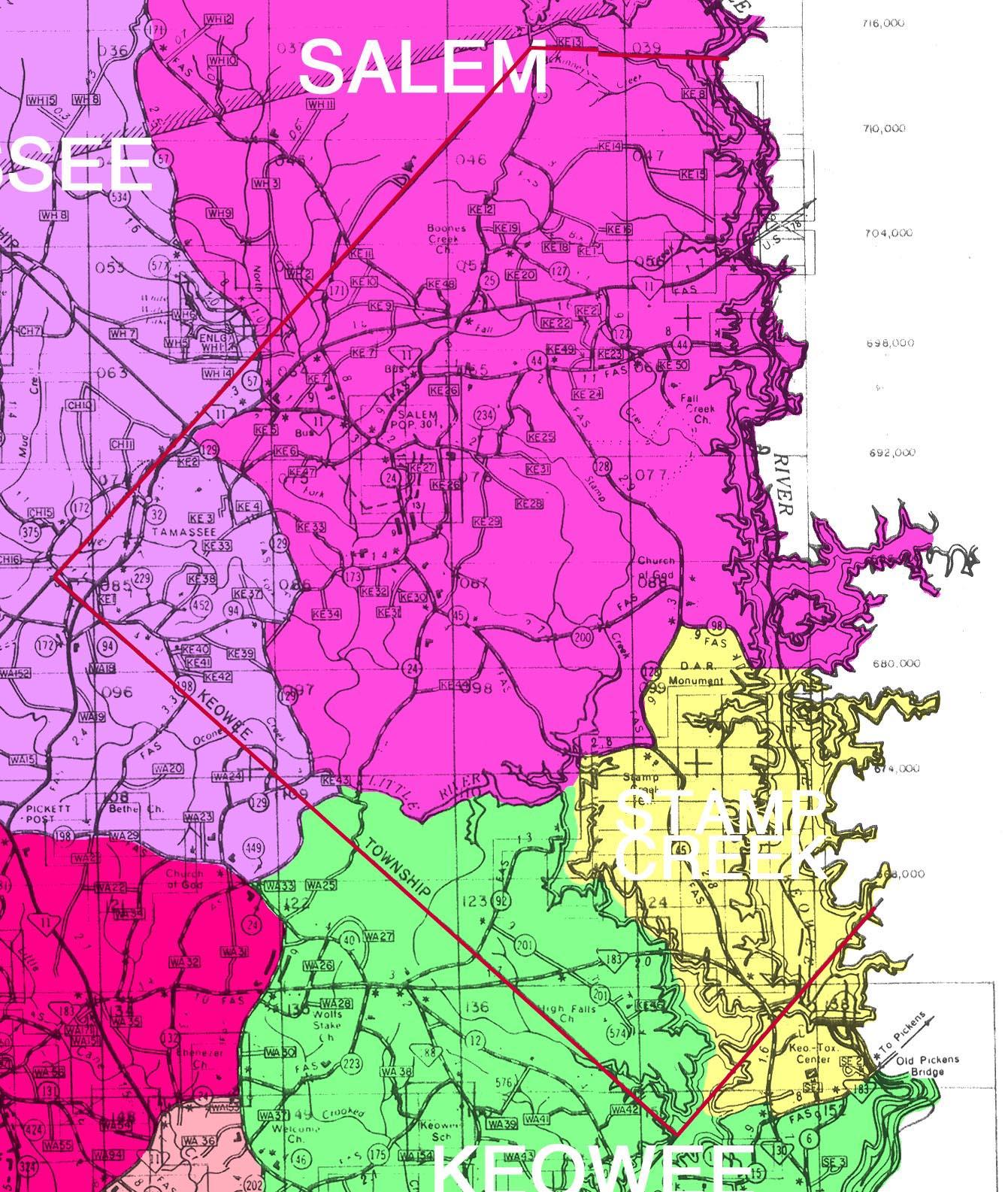 Anderson-Oconee-Pickens County SC Maps & Places