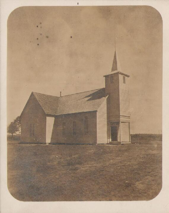 Proctor, TX Baptist Church (early photo)