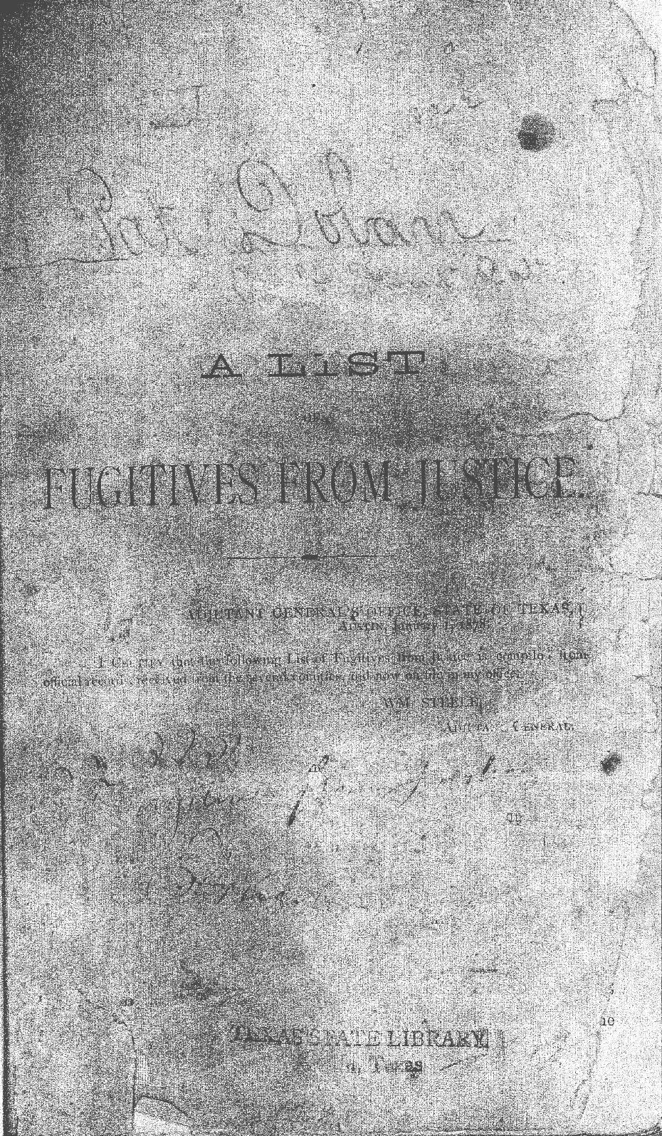 Cover of Fugutives Book