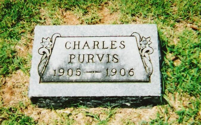 Tombstone of Charles Purvis, 1905-1906