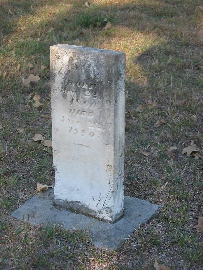 Tombstone of J. C. Speed