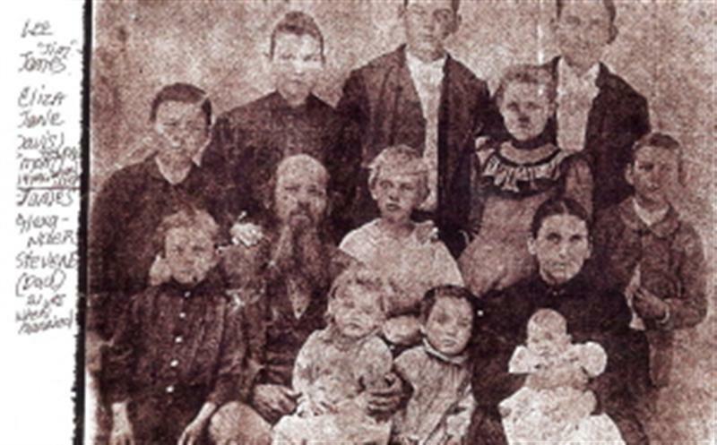 James Alexander and Eliza Jane Stevens and Family