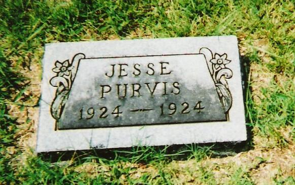 Tombstone of Jesse Eargle Purvis, Jr.