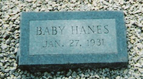 Tombstone of Baby Hanes