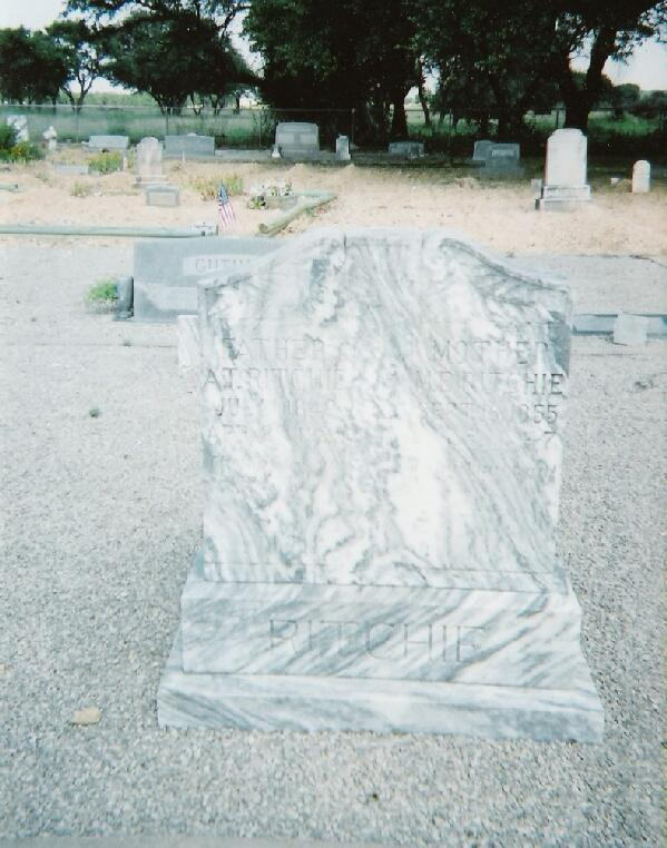 Tombstone of Andrew and Mary Ellen Ritchie