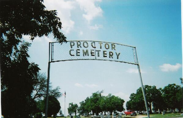 Entrance to the Proctor Cemetery