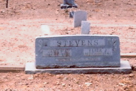 Tombstone of James Alexander and Eliza Jane (Davis) Stevens