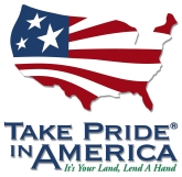 Take Pride in America button