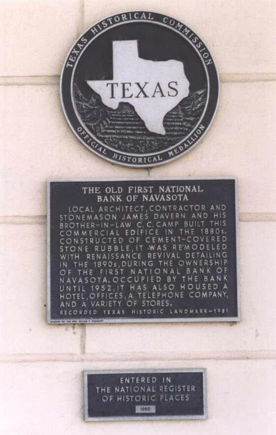 Description: First National Bank Historical Marker