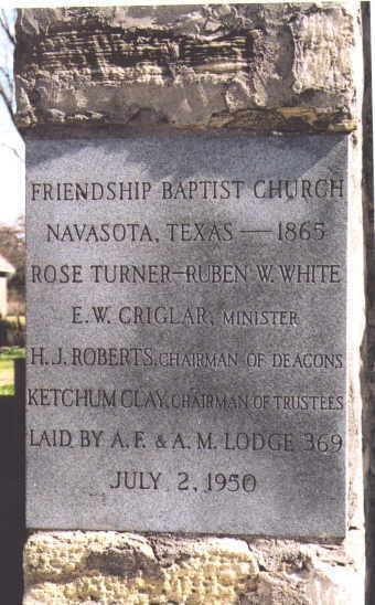 Description: Friendship Baptist Church Historical Marker