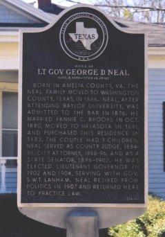 Description: George Neal Home Historical Marker