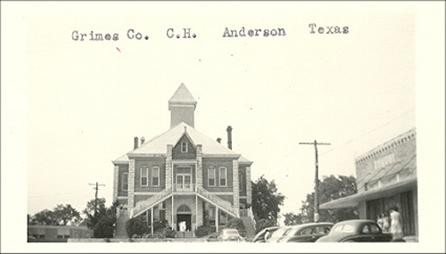 Description: Grimes County Courthouse in 1940's