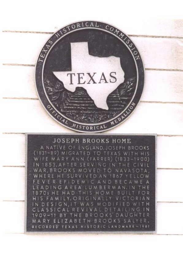 Description: Joseph Brooks Home Historical Marker