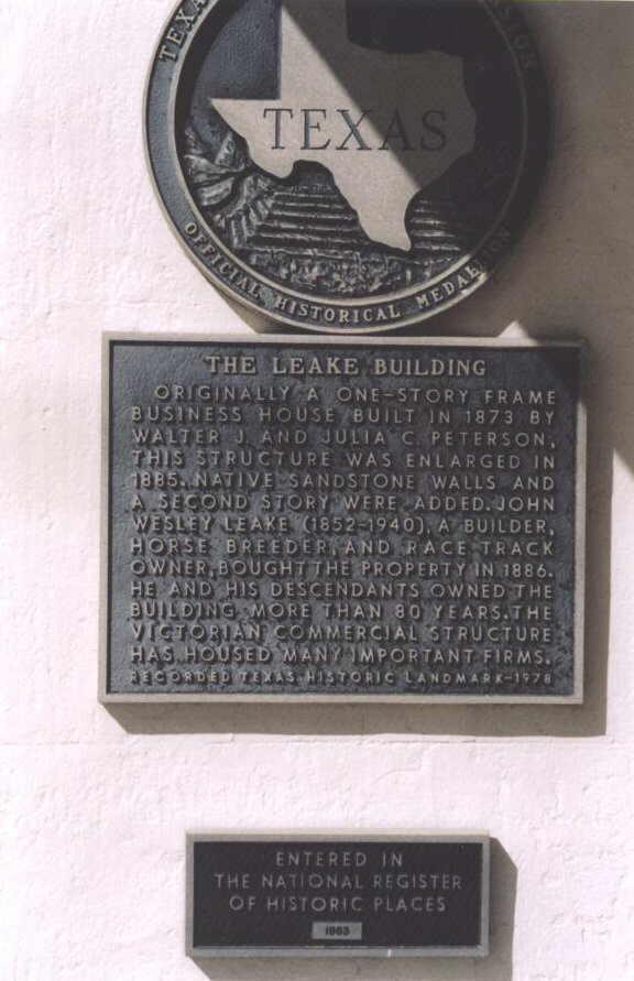 Description: Leake Building Historical Marker