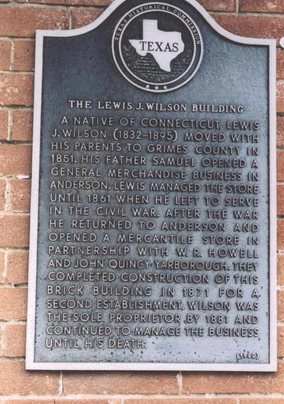 Description: Lewis J. Wilson Historical Marker