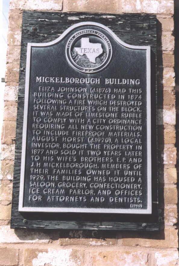 Description: Mickleborough Building Historical Marker