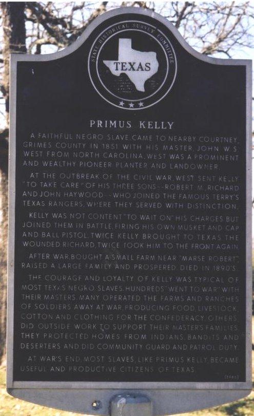 Description: Primus Kelly Historical Marker