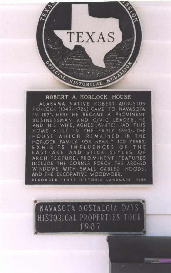 Description: Robert A. Horlock House Historical Marker