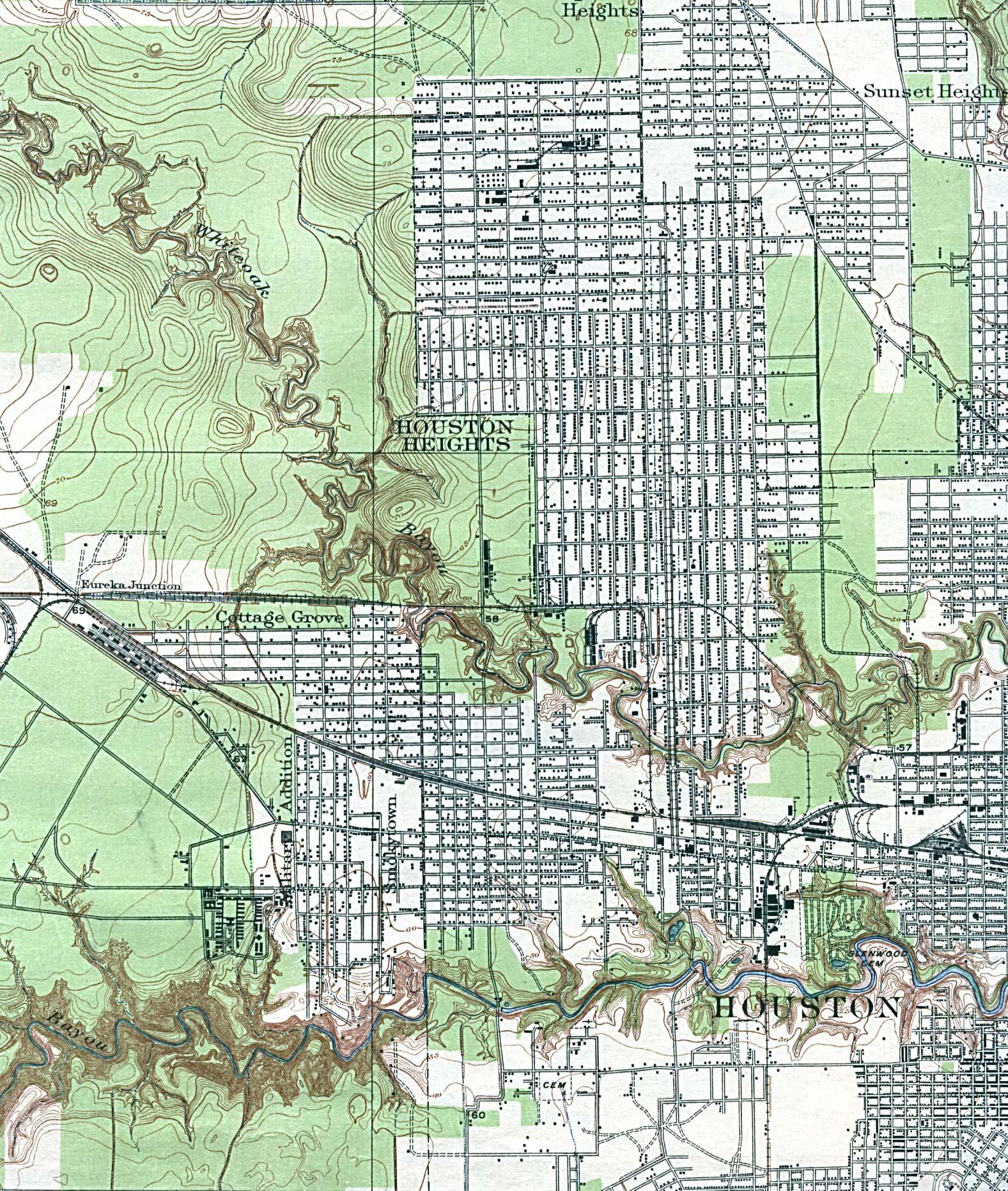 Maps of Harris County, Texas