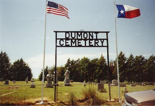 Entry to Dumont Cemetery