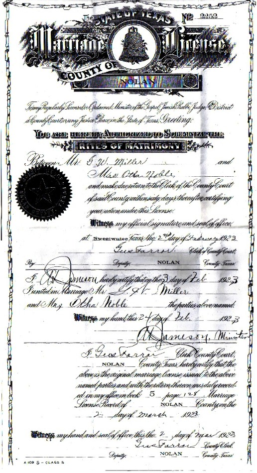 bell county texas and marital records