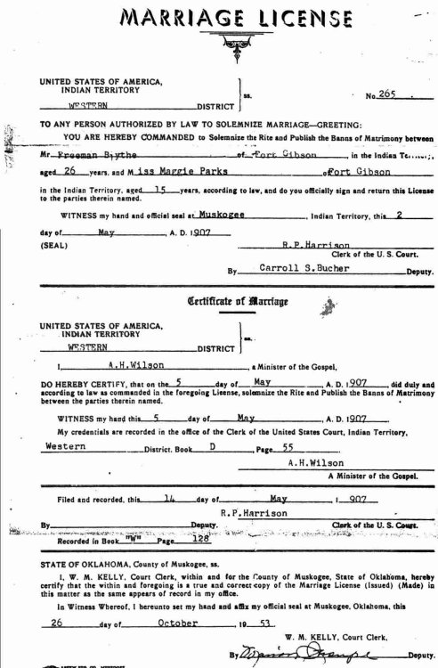 cleveland county oklahoma marriage records
