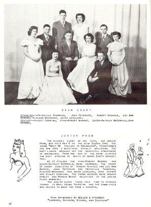 Prom Court - 1950 Paradeeville High School